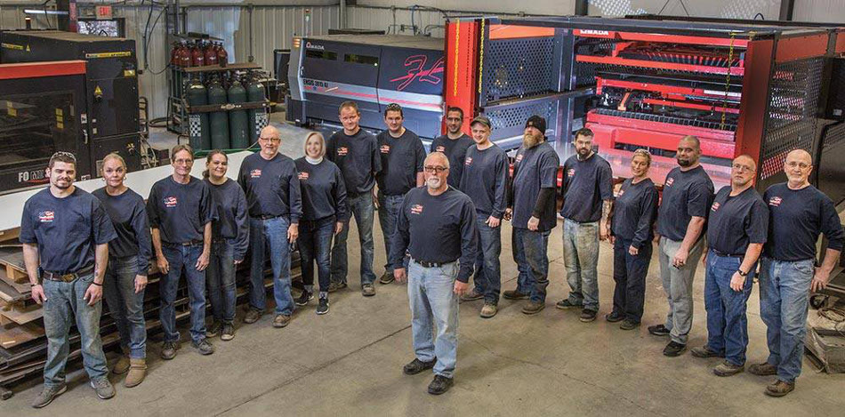 Team at CB Fabricating, Indiana metal fabrication company
