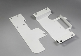 Precision sheet metal parts fabrication finished with powder coating