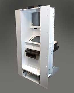 Custom metal fabricated ticket kiosk