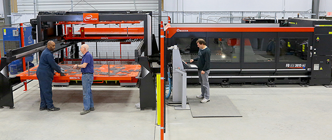 AMADA LASER CUTTER FOR PRECISION SHEET METAL FABRICATION
